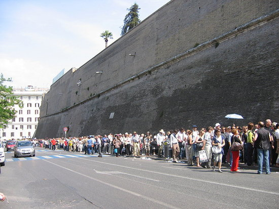 PART of the line to get into the Vatican Museum.preview