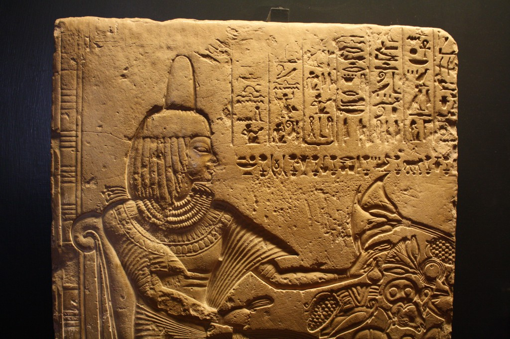 limestone relief from Egyptian romb in Memphis